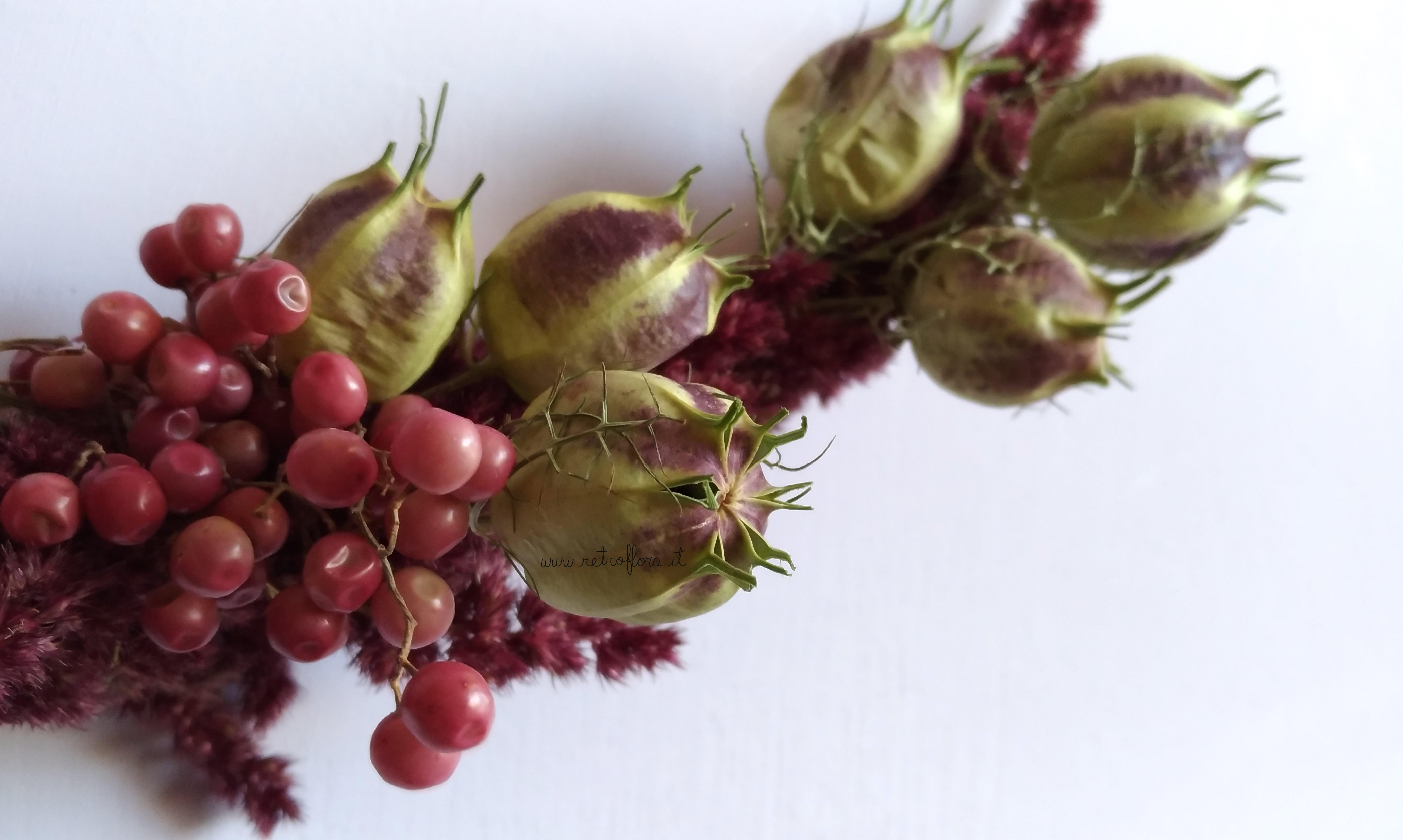 La Sfida dei Fiori Secchi, ghirlanda fiori secchi, ghirlanda retroflora, fiori secchi