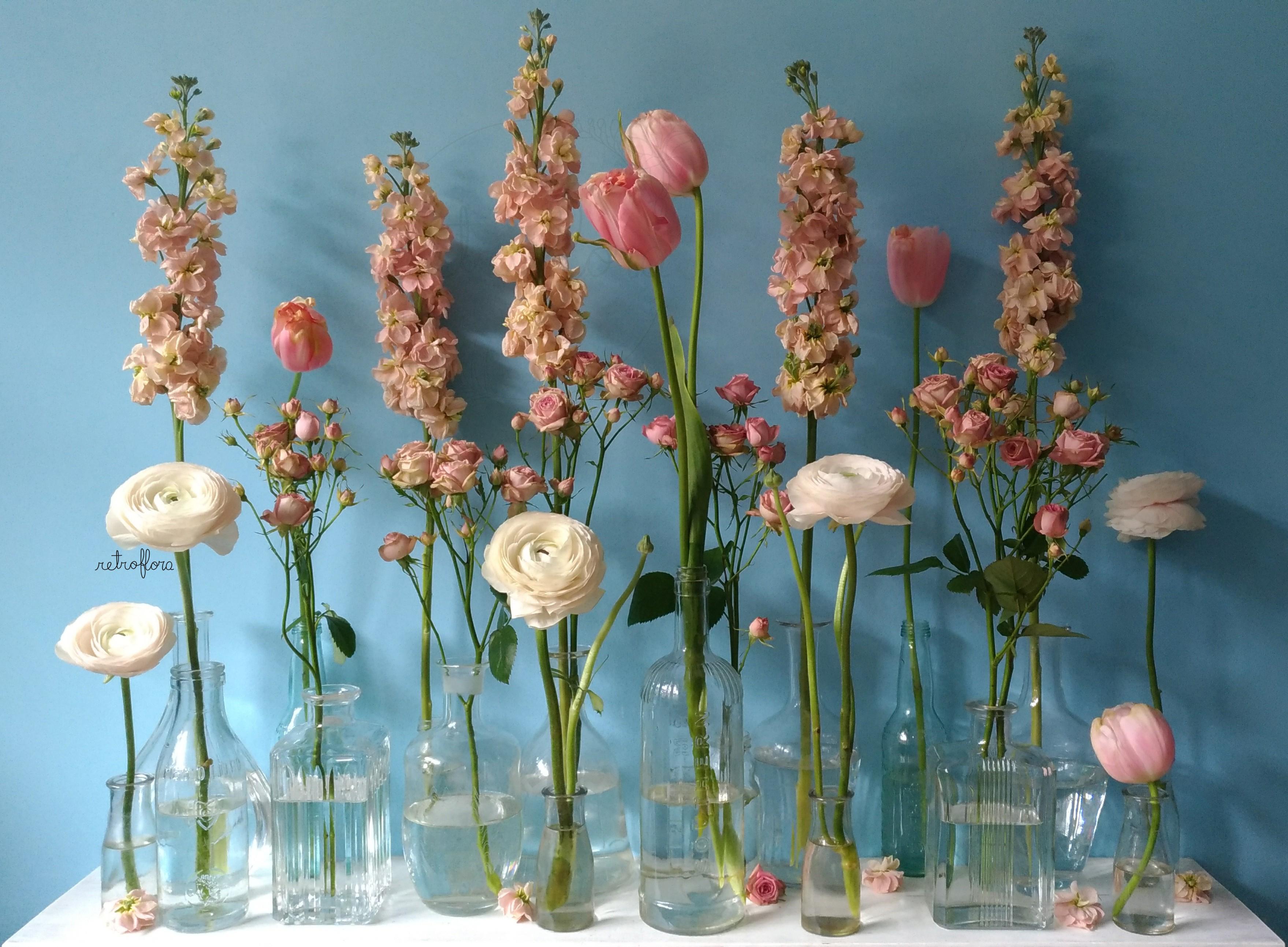 La Mensola Fiorita Tulipani e Violacciocca - Retroflora