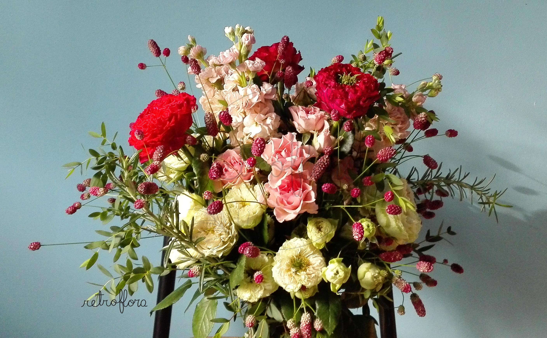 Dettaglio Bouquet Rose - Retroflora