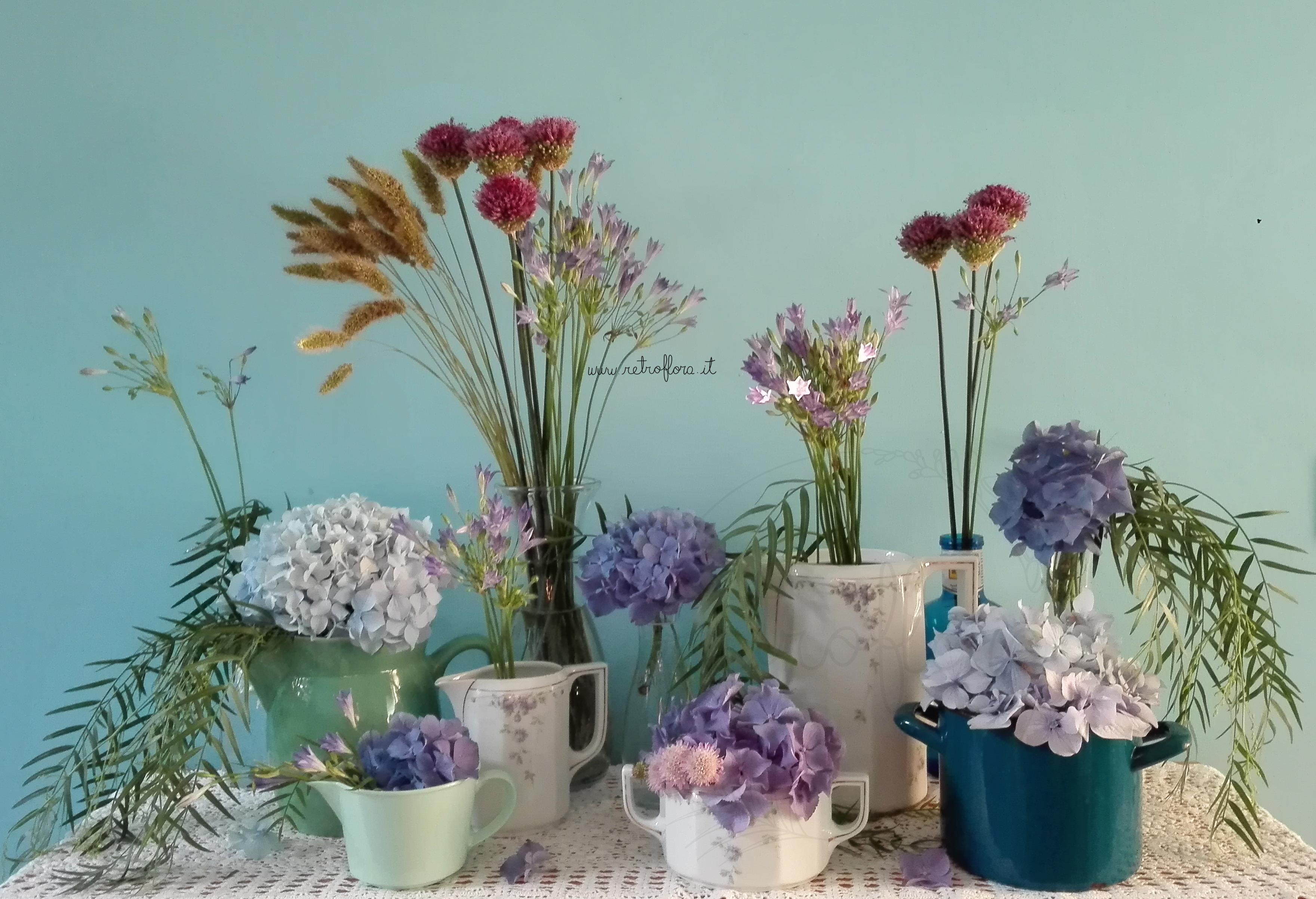 La Mensola Fiorita Luglio, Composizioni Floreali Sostenibili, Composizione Floreale Vintage, Floral Display, Flower Display