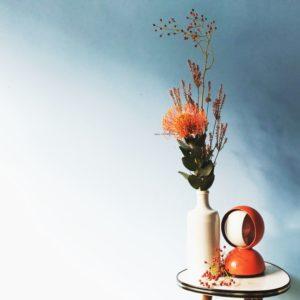 Fiori e Design, Eclisse, Artemide, Magistretti, Vintage Plant Stand