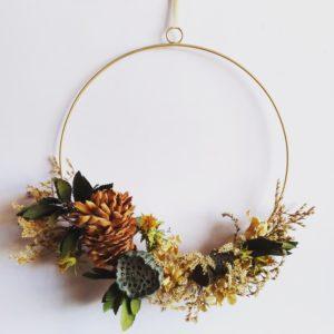Ghirlanda di Fiori Secchi, Ghirlande natalizie fatte a mano, Fiori Secchi, Wreath