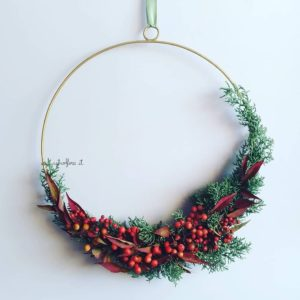 Ghirlanda di Fiori Secchi, Ghirlande natalizie fatte a mano, Ghirlanda di Fiori Freschi e Secchi, Wreath