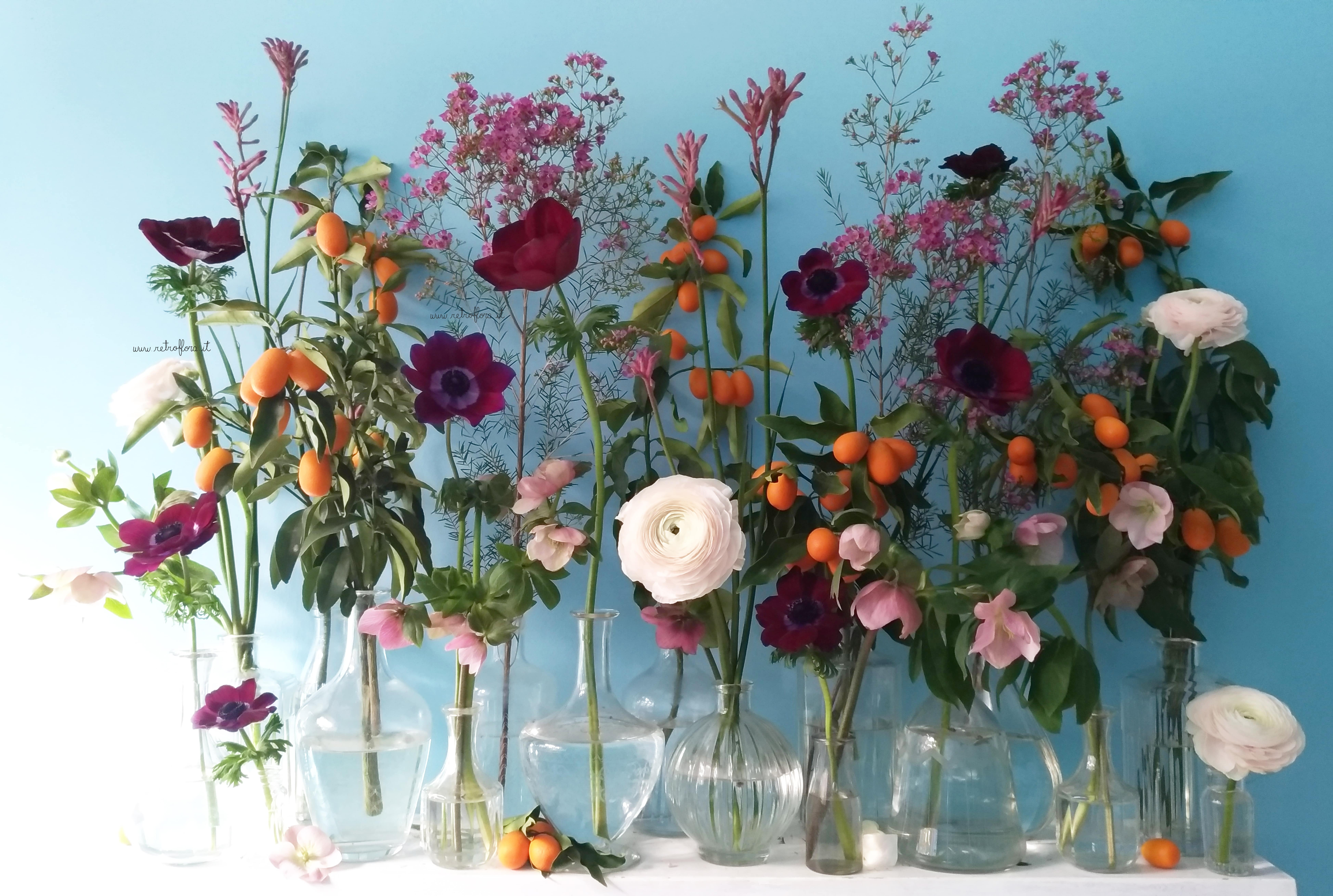La Mensola Fiorita Anemoni e Mandarino Cinese - Retroflora