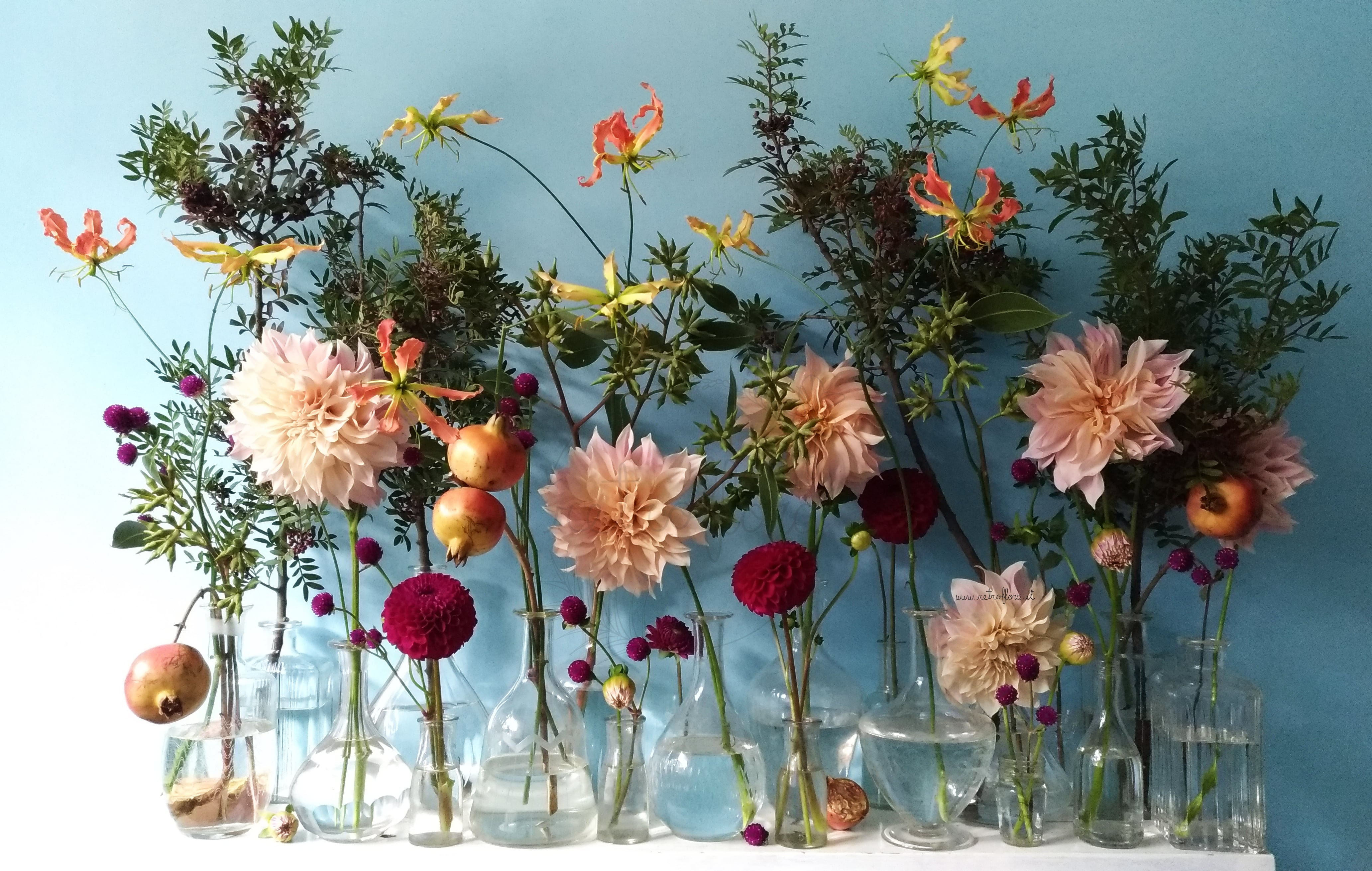 La Mensola Fiorita Dalie e Gloriosa - Retroflora