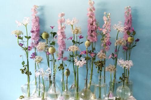 il potere espressivo dei fiori, composizione retroflora, composizione vegetativa, sustainable floristry, ecofcomunicare con i fioriloristry,