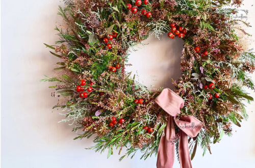 Ghirlanda Invernale, ghirlanda natalizia, ghirlanda naturale, retroflora